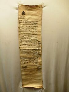 Antique-Islamic-Manuscript-Persian-Document-On-Cloth-Farman-Rare-Collectibles