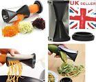 Spiral Slicer Cutter Kitchen Tool Fruit Vegetable Spiralizer Twister Peeler UK