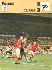 FICHE CARD: CM 1966 Finale Bobby Moore Lothar Emmerich Nobby Stiles FOOTBALL 70s