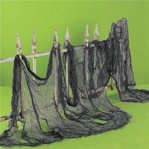 Halloween-Terrifiant-grille-Gaze-Tissu-Fete-Decor-gothique-pilier-huis-Decor