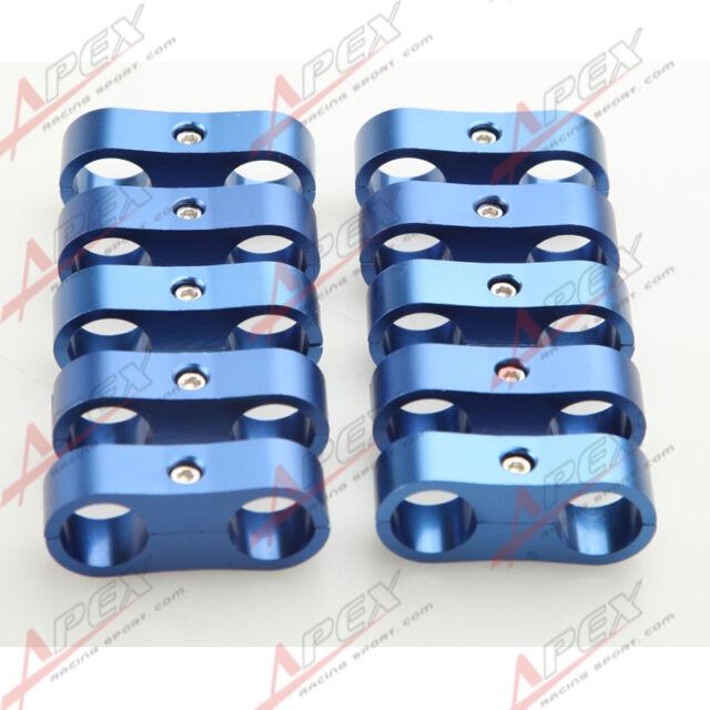 10PCS -12AN AN12 24mm Billet Fuel Hose Separator Fittings Adapter Blue
