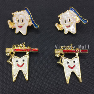 Dental-clinic-gift-Metal-Tooth-Type-Shape-Molar-Brooch-Cartoon-High-Quality