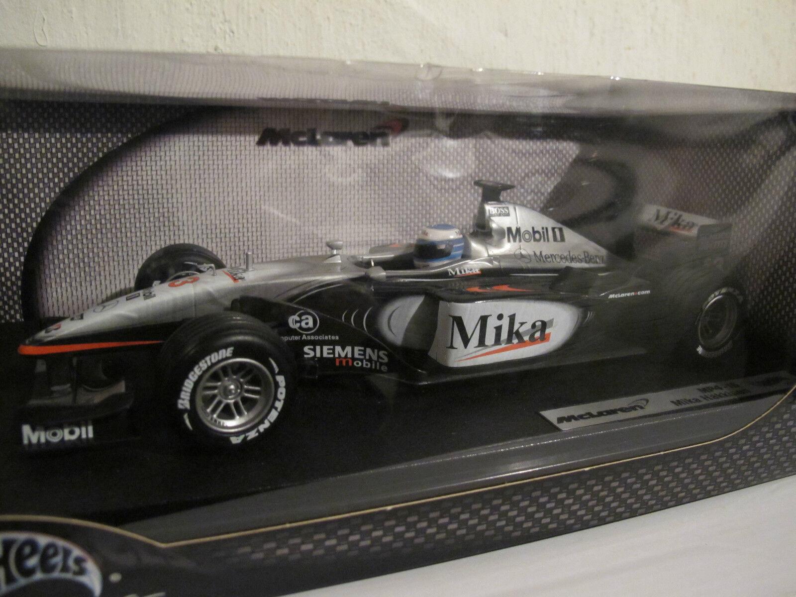 1 18 mclaren mp4-16, Mika Häkkinen, personaje & cigarrillos, Hot Wheels, nuevo & OVP rar