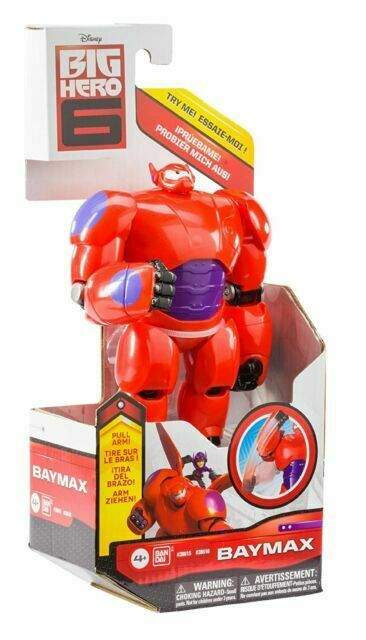 Baymax Big Hero 6 With Punching Feature Action Figure Bandai 38616 For Sale Online Ebay