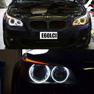 Super-White-LED-Angel-Eye-Halo-Bulb-Rings-BMW-E60-LCI-For-Halogen-Low-Beam-Model