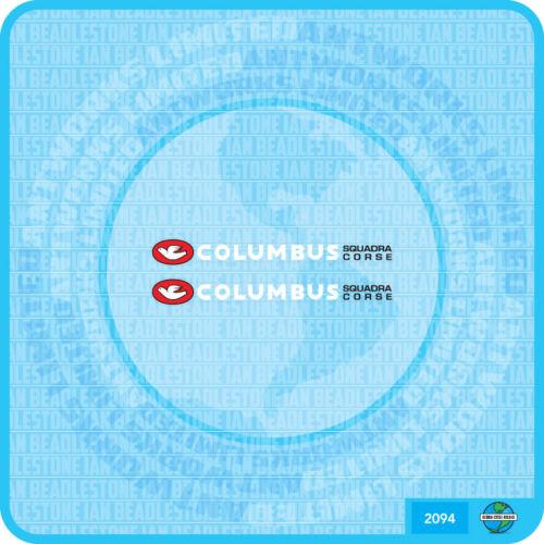 Columbus SQUADRA COURSE bicyclette décalque transfert sticker-lot 94