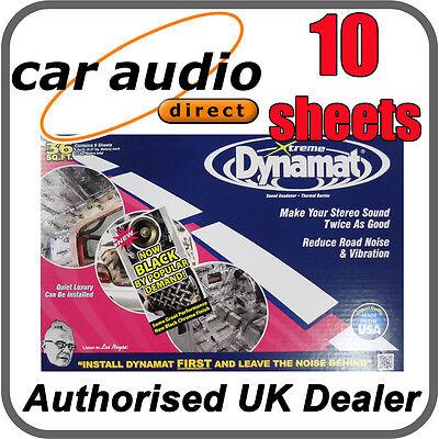 Dynamat Xtreme Extreme Bulk Pack Kit 40sqft Black Car Sound Deadening 10 Sheets