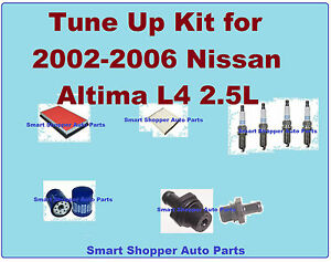Tune up kit for 2002 2006 nissan altima l4 2 5l spark for Motor oil for 2002 nissan altima
