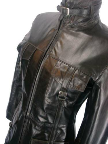 Ladies Glazed Brown London l7 8 Coat Uk Leather Unicorn 7U5qnBSW7