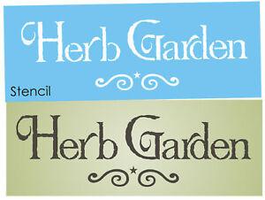 Merveilleux Image Is Loading Joanie Stencil Prim Herb Garden Mint Thyme Lavendar