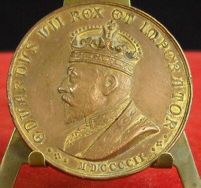 * Médaille Eduardus Vii Rex Et Imperator 1902 Insenga Napoli Medal 铜牌 Precio De Venta