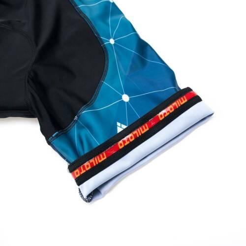 Miloto Herren Radbekleidung Reflektierende Radtrikot Trägerhose Gepolstert Set