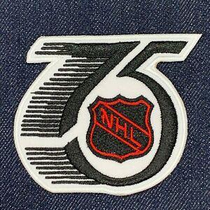 NHL-75TH-ANNIVERSARY-JERSEY-PATCH-IRON-ON-HOCKEY-2-5-034-X-3-25-034-FREE-SHIPPING