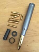 Jeep Wrangler Gunmetal & Gold Antenna Short 50 Caliber Bullet