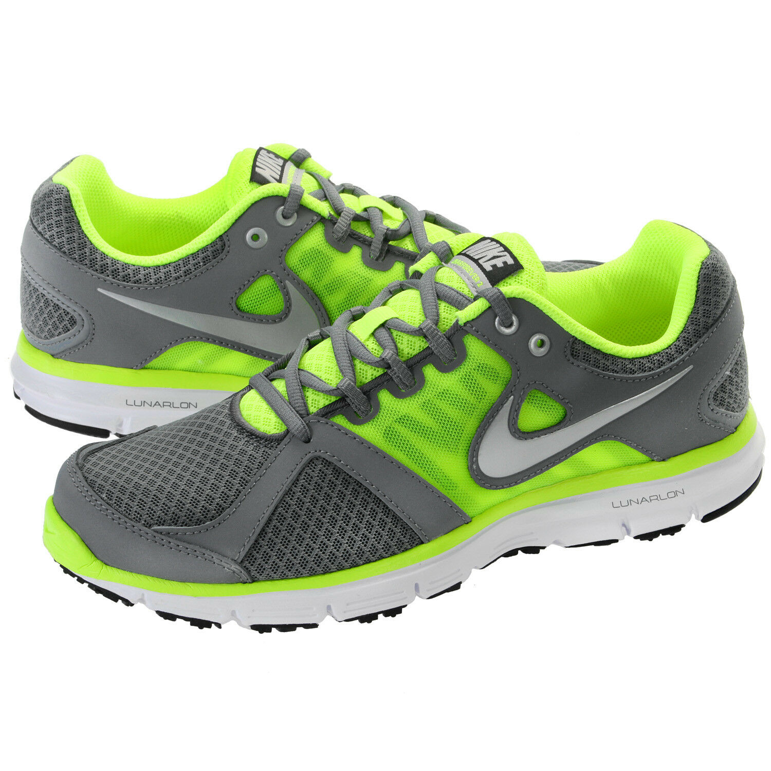 Nike Men's Lunar Forever 2 Shoes NEW AUTHENTIC Grey/Volt/White 554905-009