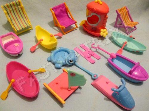 Littlest Pet Shop Random Lot 4 Beach Accessories Boats Jet Ski Sail Boat Ship