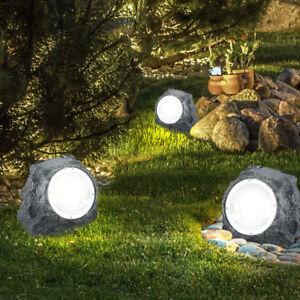 d63425715cb8e1 Das Bild wird geladen LED-3er-Set-Garten-Aussen-Lampe-Leuchte-Solar-