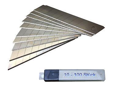 Das Beste 18 Mm ( 10 - 100 Stück ) Teppichmesser - Abbrechmesser - Cuttermesser - Messer