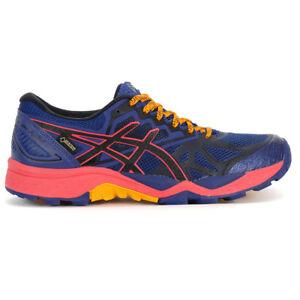ASICS Women's Gel-Fujitrabuco 6 G-TX Blue Print Trail Running Shoes T7F5N.400...