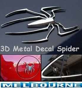 3D-Silver-Spider-Car-Biker-Emblem-Badge-Decal-Logo-Car-Sticker-Truck-Bike-Chrome