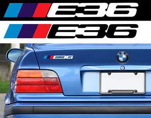 LOGO E36 POUR BMW MOTORSPORT SPORT RACING 18cm AUTOCOLLANT STICKER BA226