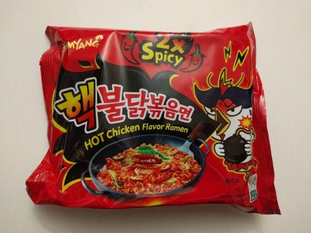 2x Spicy Hot Chicken Flavor Ramen Samyang Korean Fire Noodle Challenge 1pk
