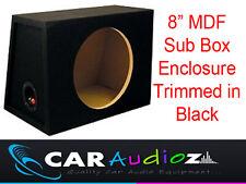 "8"" Inch 20 cm Single Sealed Black Carpeted Subwoofer Sub Box Bass Enclosure~~~~~"