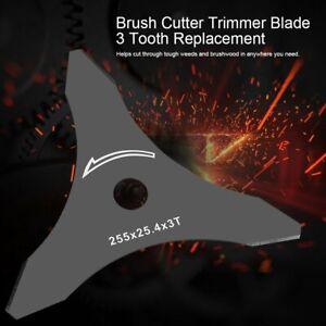 3-Tooth-Brush-Weed-Cutter-Metal-Blade-Brushcutter-amp-Trimmer-Strimmer-Blades