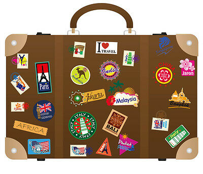 Suitcase Travel Luggage Notebook Removable Stickers Wall Decal Decor Art Mural