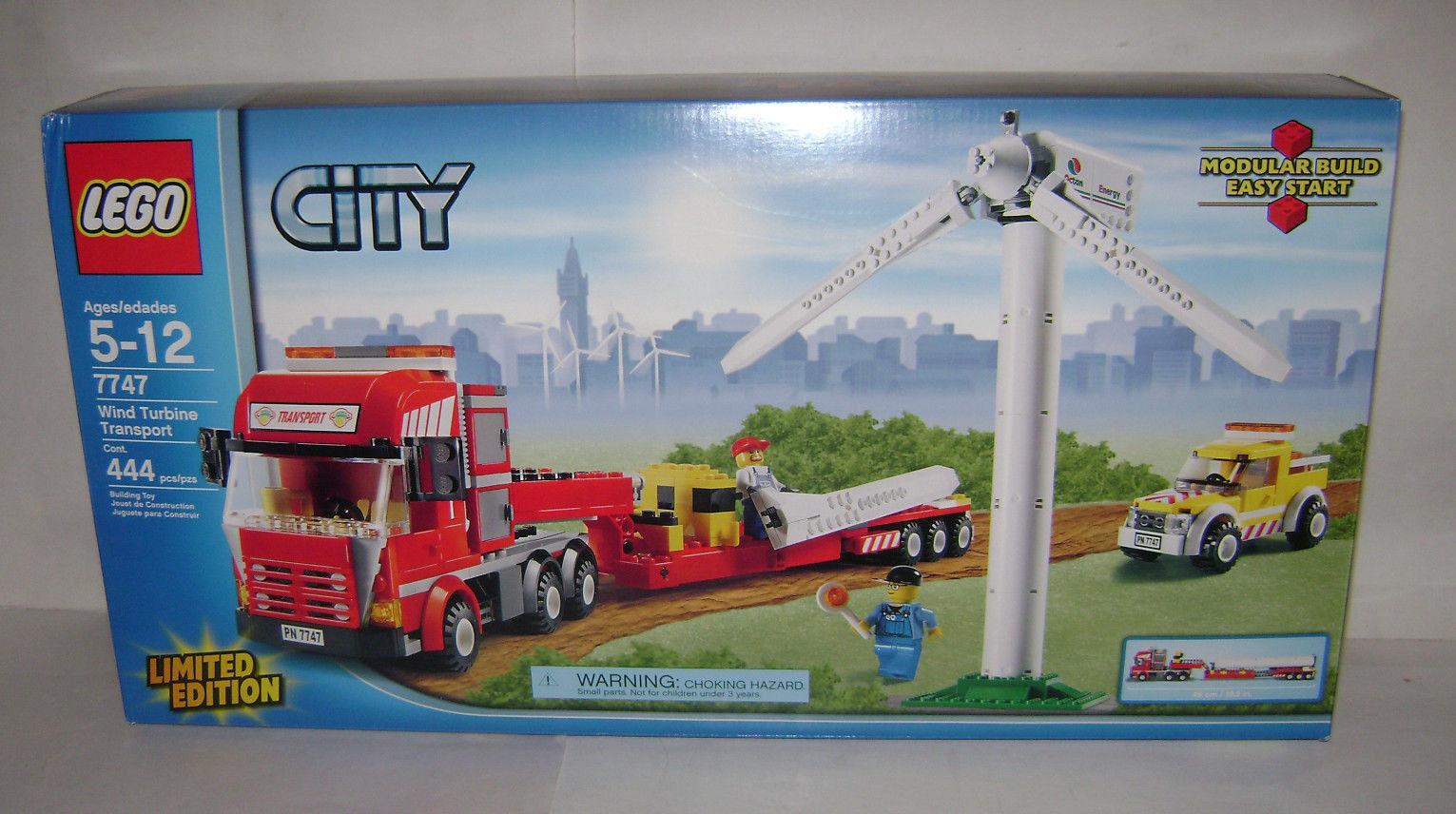 Nouveau 7747 LEGO CITY Wind Turbine Transport Building  Toy Boîte Scellée retraité une  grande vente