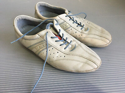 ecco womens white casual athletic sneakers shoes size 40