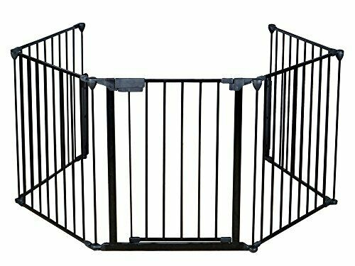 Durable Safety Gate Keeps Pet & Kids Safe from Fireplaces & Wood Burning Stoves