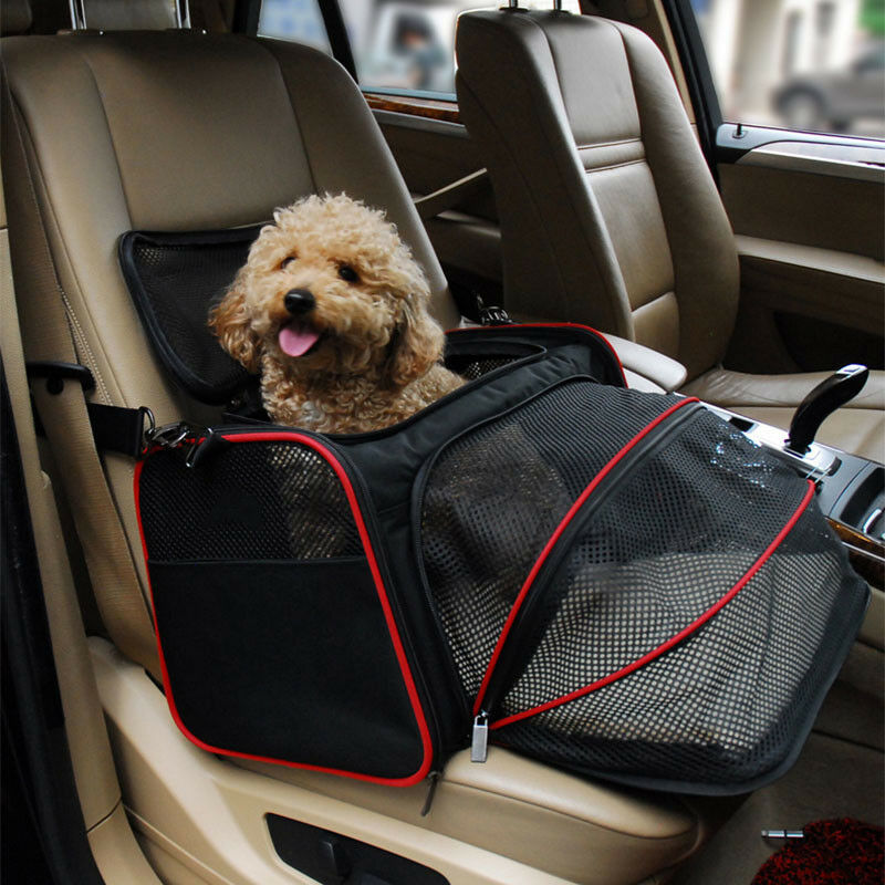 Outdoor Sport Expandable Pet Dog Carrier Car Travel Bag Oxford Breathable Cat