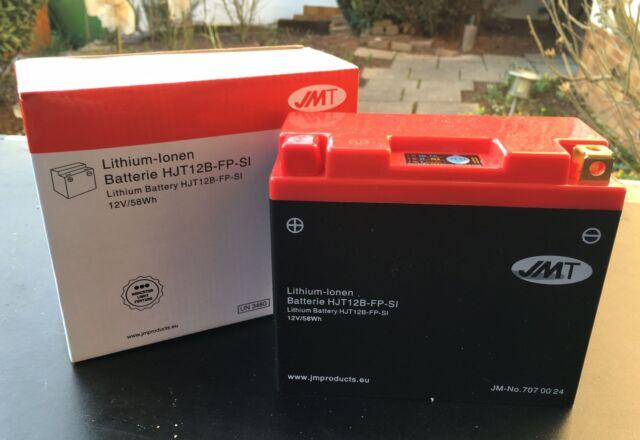 JMT Li-ion Batteria HJT12B-FP, DUCATI 848, 996, 1098, 1198, YT12B-BS