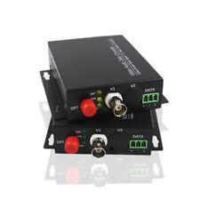 Video Fiber Optic Media Converter for CCTV Security System Cameras 1 Pair