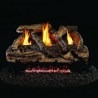 Real Fyre 30-inch Split Oak Logs & Vent-free Nat Gas G9 Burner - Variable Remote