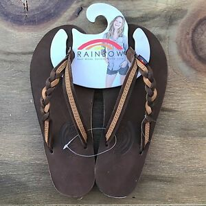 d4ec3f3b7bec Image is loading Women-Rainbow-Sandals-Flirty-Braidy-Expresso-Sierra-Brown-