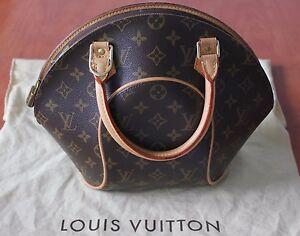 58a4284e26ca Image is loading 100-Authentic-Louis-Vuitton-Ellipse-PM-monogram-shoulder-
