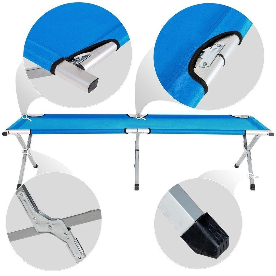4 Feltsenge i aluminium blå