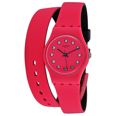 Swatch Toosun Pink Dial Pink Silicone (Double Wrap) Ladies Watch LP134