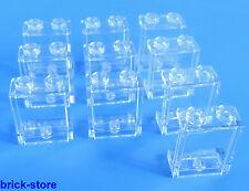 LEGO® 1x2x2 Fenster / Glas transparent  klar / 10 Stück