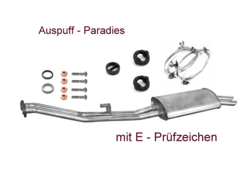 Endschalldämpfer Auspuff  für BMW 3er E30 320i /& 325i Limo. Kombi /& Coupé Kit