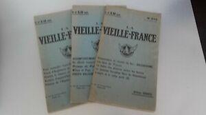 Rivista La Vecchia Francia X3 N° S 223-225-228 Urban Gohier 1921 ABE
