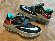 8a94134a8f2d 2015 Nike KD 7 VII GS Flight Classic Charcoal Dove Grey Size 6.5Y (669942