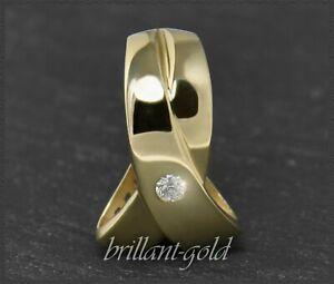 Diamant-Anhaenger-aus-585-Gold-0-07ct-Brillant-Gelbgold-Goldschmied-Handarbeit