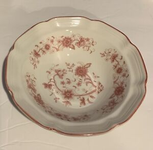 Lovely-6-Soup-Cereal-Bowl-Pink-Flowers-Korea