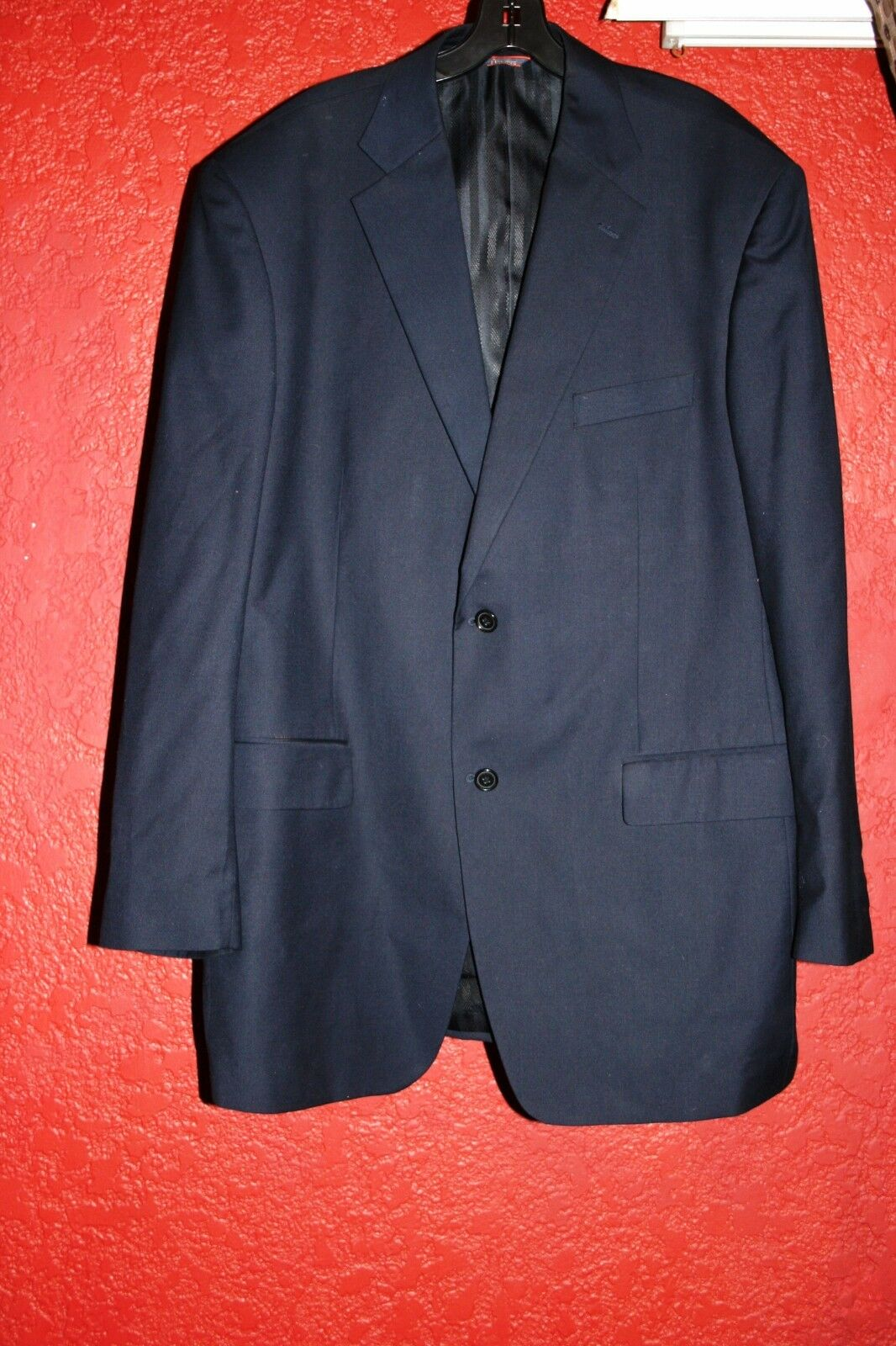 MARCHATTI MADE IN ITALY MEN'S BLAZER NAVY blueE 2 BUTTONS SIZE 48 L
