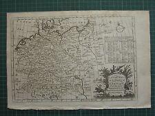 1771 ANTIQUE MAP of GERMANY ~ SAXONY AUSTRIA WEST PHALIA PRUSSIA MORAVIA BAVARIA