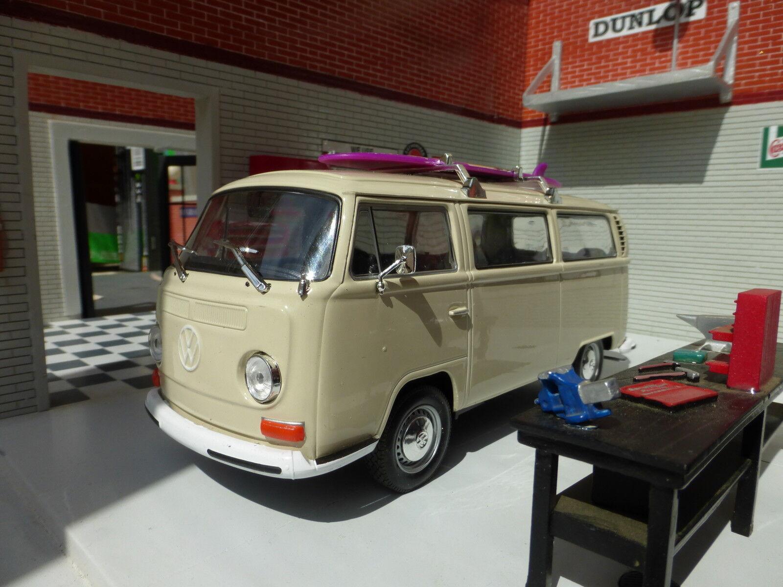 VW T2 Baie Surf Surfant Camping-Car Campervan Welly 1 24 à L'Échelle Miniature