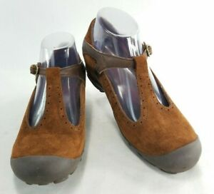 Merrell-Plaza-Strap-Womens-Brown-Suede-Leather-Mary-Jane-Shoes-Sz-8